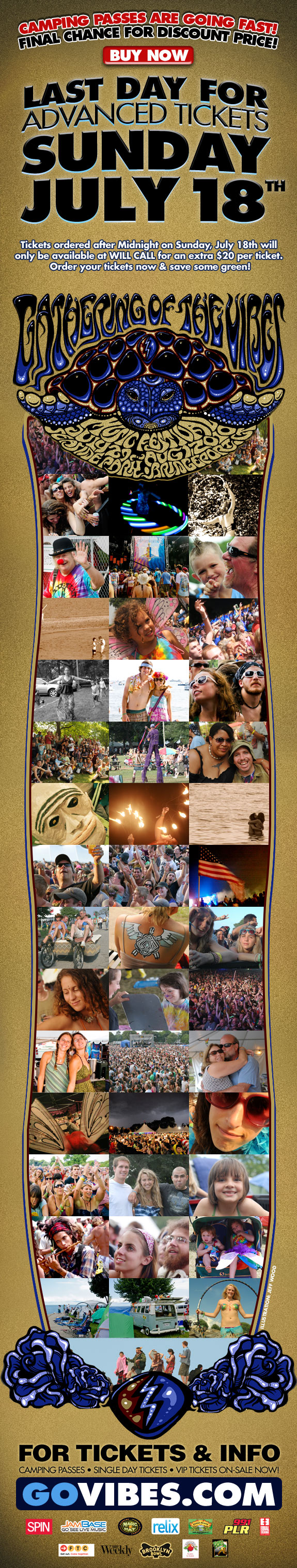 Gathering of the Vibes Tickets - Buy Before July 18 Save $20 Bucks